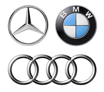 Audi, BMW or Mercedes Logos