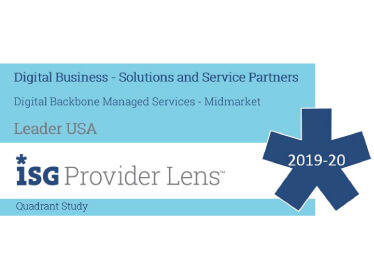 Hexaware Named Leader, Digital Backbone Managed Services – Midmarket in the ISG Provider Lens™ Digital Business – Solutions and Service Providers 2019-2020 Quadrant Study
