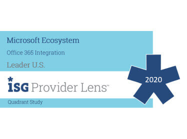 Hexaware Named Leader, Office 365 Integration in the ISG Provider Lens™ Microsoft Ecosystem US Quadrant Study 2020