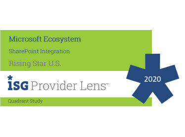 Hexaware Named Rising Star, SharePoint Integration in the ISG Provider Lens™ Microsoft Ecosystem US Quadrant Study 2020