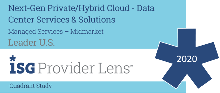 Hexaware Named US Leader in Managed Services – Midmarket in the ISG Provider Lens ™ Next-Gen Private/Hybrid Cloud - Data Center Services & Solutions 2020 US Quadrant Study