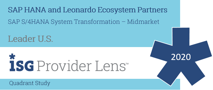Hexaware named US Leader, SAP S/4 HANA System Transformation – Midmarket, in the ISG Provider Lens™ SAP HANA and Leonardo Ecosystem Partners 2020 Study
