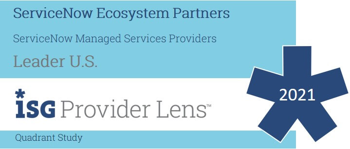 Hexaware Named a Leader in ServiceNow Managed Services Providers in the ISG Provider Lens™ ServiceNow Ecosystem Partners US 2021 Quadrant Report.