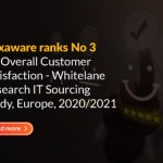 Hexaware ranks No 3 for Overall Customer Satisfaction – Whitelane Research IT Sourcing Study, Europe, 2020/2021